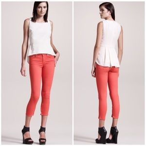 Rag & Bone Zipper Capris Jeans